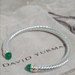 🌼DAVID YURMAN Silver Cable Bracelet 14K Gold